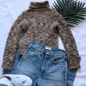 Vintage Turtleneck Cropped Sweater